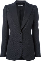 Dolce & Gabbana polka dot blazer - women - Cupro/Virgin Wool - 46