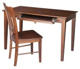 Whitewood Industries Inc Desk with Chair Espresso - Whitewood Industries