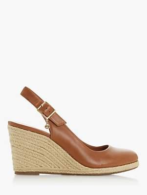 Dune Codi T Leather Wedge Heel Sandals