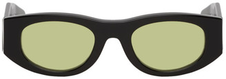 Thierry Lasry Black and Yellow Mastermindy Sunglasses