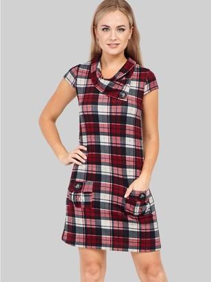 M&Co Izabel checked tunic dress