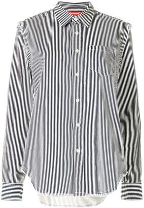 Denimist Distressed Vertical-Stripe Shirt