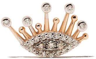 Kismet by Milka 14kt Rose Gold Diamond Eye Eternal Stud Earrings