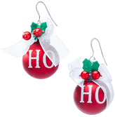 Carole Red Jingle Bell Drop Earrings