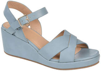 Journee Collection Womens Kirstie Pumps Open Toe Wedge Heel
