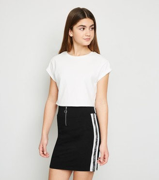 New Look Girls Manhattan Tape Slogan Skirt