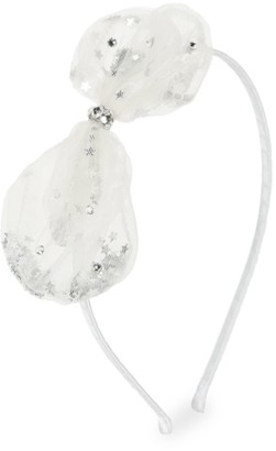 Bari Lynn Swarovski Crystal Tulle Bow Headband