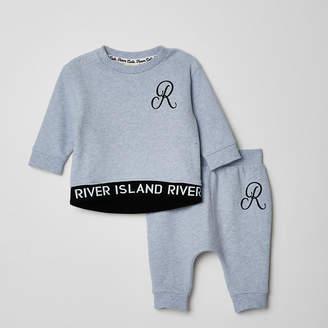 River Island Baby blue RI sweatshirt outfit
