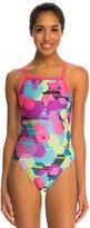 Speedo Spot Printed Propel Back One Piece Swimsuit 8138486