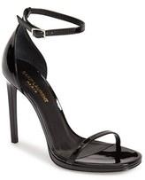 Saint Laurent Women's 'Jane' Ankle Strap Leather Sandal