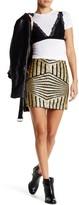 Romeo & Juliet Couture Stripe Sequined Mini Skirt