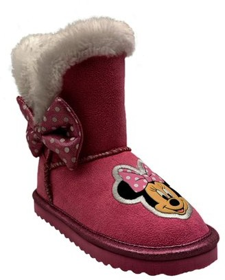 Minnie Mouse Disney Cozy Faux Shearling Winter Boot (Toddler Girls)