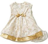 Bonnie Jean Bonnie Baby Baby Girls 12-24 Months Metallic-Lace Dress