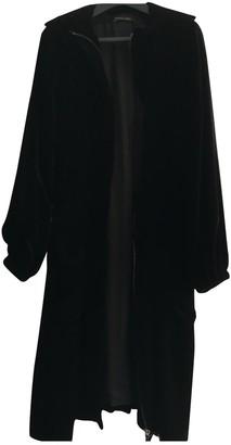 Martine Sitbon Black Velvet Coat for Women