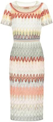 Missoni Striped knit midi dress