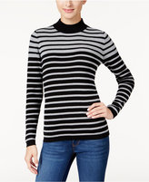 Karen Scott Striped Ribbed Sweater, Only at Macy's