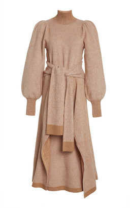 Ulla Johnson Astrid Belted Wool Turtleneck Dress