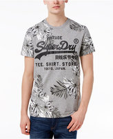 Superdry Men's Surf Store Floral Graphic-Print Logo Cotton T-Shirt