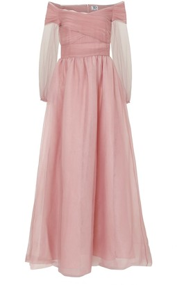 True Decadence Dusty Mauve Tulle Maxi Dress
