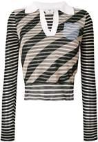 Fendi striped cropped top