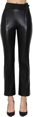 Ermanno Scervino FAUX LEATHER HIGH WAIST SKINNY PANTS