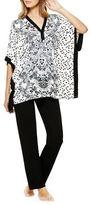 Ellen Tracy Floral Caftan Pajama Set
