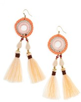Panacea Women's Crochet Tassel Earrings
