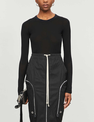 Rick Owens Ribbed stretch-jersey top