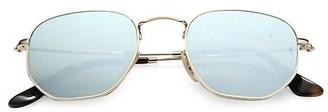Ray-Ban RB3548 51MM Hexagonal Sunglasses