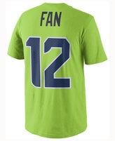 Nike Men's Fan #12 Seattle Seahawks Color Rush Name & Number T-Shirt