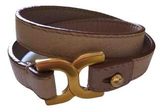 Chloé Pink Leather Bracelets