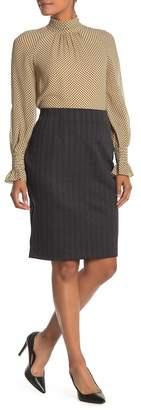 Amanda & Chelsea Striped Pull-On Ponte Pencil Skirt