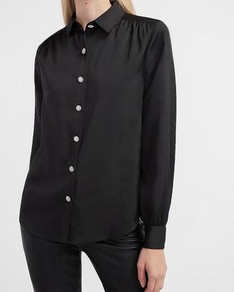 Express Jewel Embellished Portofino Shirt