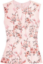 Stella McCartney Floral-jacquard And Crepe Top - Blush