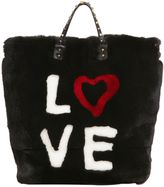 Dolce & Gabbana Beatrice 4 Ever Lapin Fur Tote Bag
