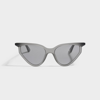 Balenciaga Grey Cat Eye Sunglasses In Injection