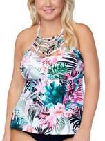 Thumbnail for your product : Raisins Curve Trendy Plus Size Boa Haute Bloom Strappy Tankini Top Women's Swimsuit