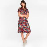 Paul Smith Women's Silk Dress With 'Wild Garden' Print