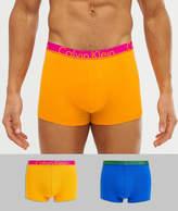 Calvin Klein ID 2 pack contrast waistband trunks