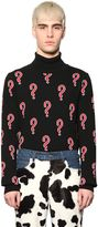 Au Jour Le Jour Question Marks Wool Blend Sweater