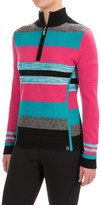 Neve Chloe Striped Sweater - Merino Wool, Zip Neck (For Women)