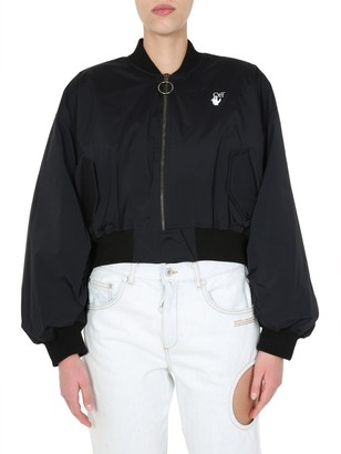 Off-White Logo Bomber Jacket