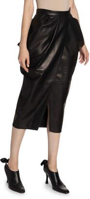 Proenza Schouler Leather High-Waist Tulip Skirt