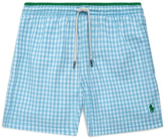 Ralph Lauren Kids Gingham Swim Shorts (2-4 Years)