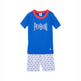 Petit Bateau Boy's Snug Fit Short Pajamas In Cotton With A Silkscreen Print