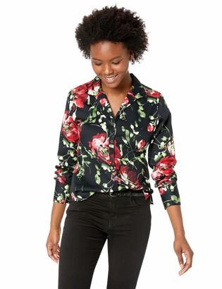 Foxcroft Women's Petite Rhonda Floral Blouse