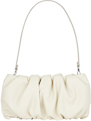 STAUD Bean Ruched Leather Bag