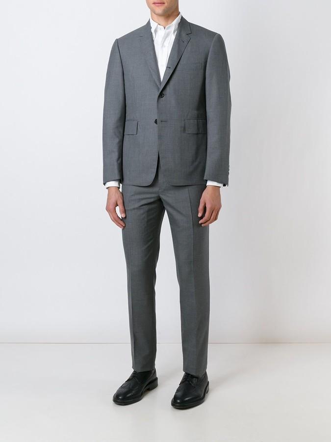Thom Browne Classic Suit In Medium Grey Super 120's Wool Plain Weave