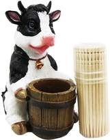 DWK Bovine Bell Collar Cow Decorative Toothpick Holder Figurine With Toothpicks by Gifts & Decors