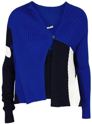 Crea Concept Panelled Ribbed Wool-blend Cardigan